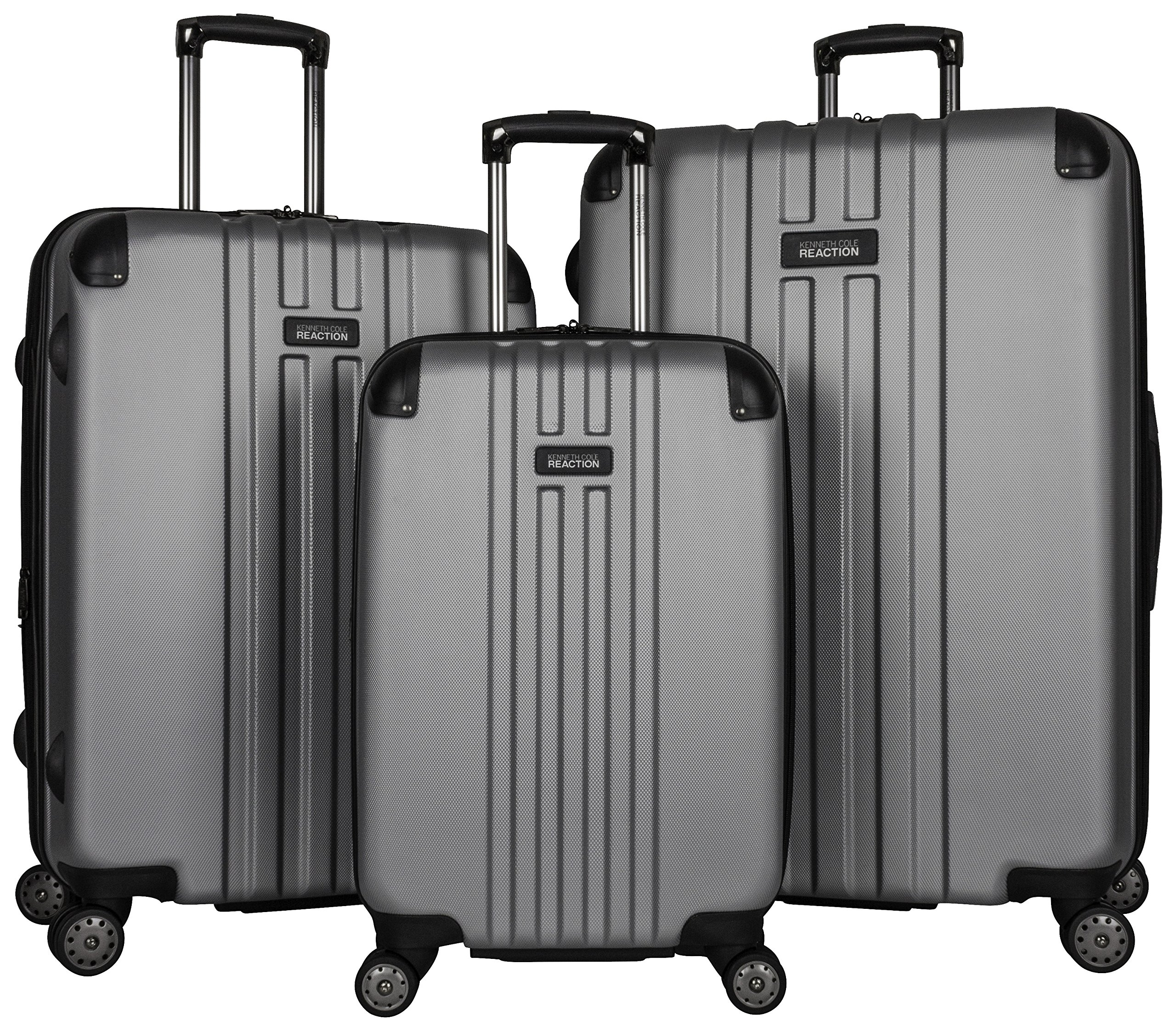 Kenneth Cole Reaction Reverb 3-Piece Luggage Set, Light Silver