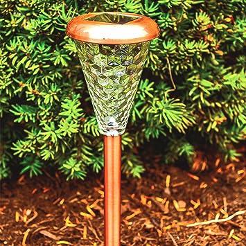 Sogrand 8pcs packsolar lights outdoorglass lens copper finishsolar light