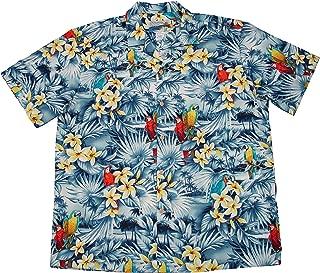 product image for Paradise Found Waimea Casuals Mens Parrots Shirt Blue S