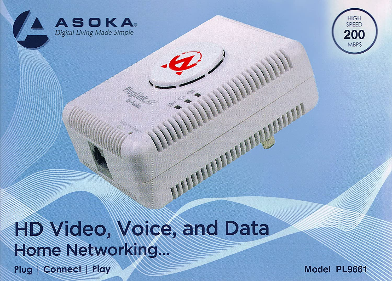 Asoka Pluglink Av 9661 Computers Accessories Using Homeplug Powerline Ethernet For Home Network Media Streaming