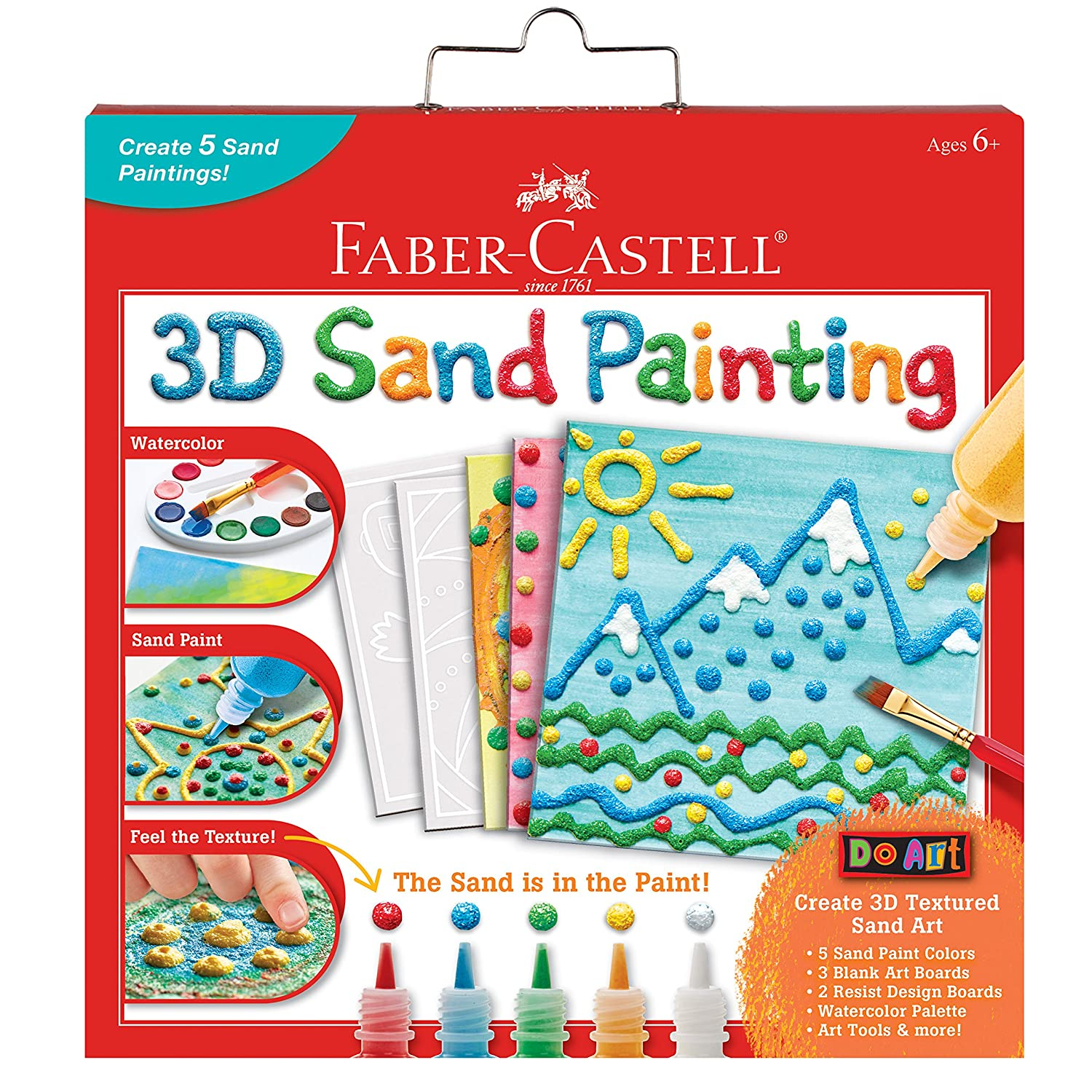 bcb174fbe37f8 Faber Castell 3D Sand Painting - Textured Sand Art Activity Kit for Kids