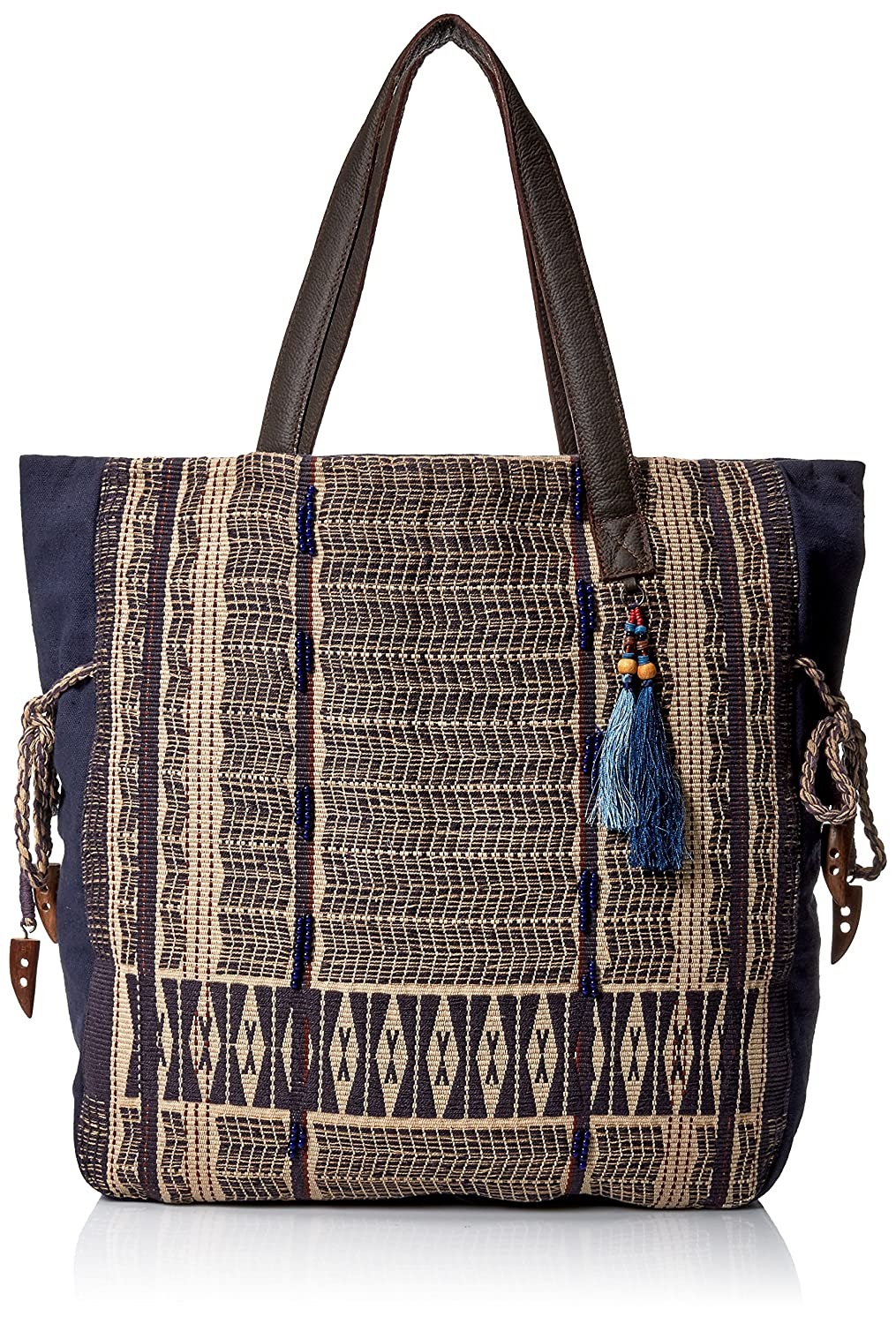/'ale by alessandra Womens Blue Skies Traditional Hand-Loomed Fabric Tote