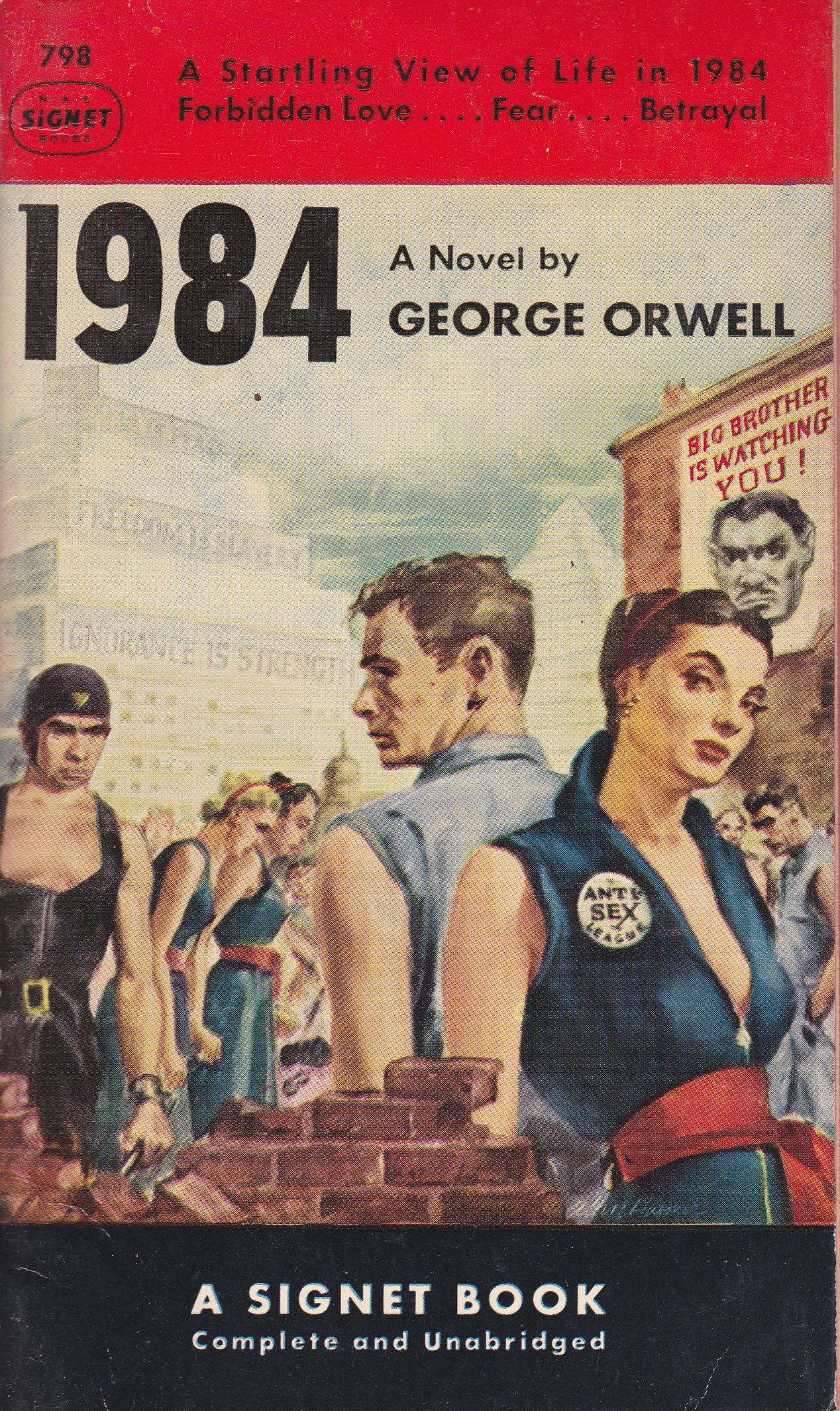 George Orwell predicted      almost    years ago An edition of        by George Orwell  right  is displayed among other