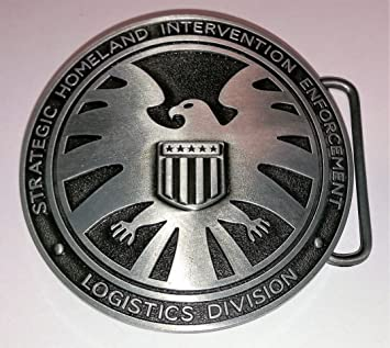 Agents Of Shield Superhero Belt Buckle S.H.I.E.L.D. Marvel Comics Strategic  Homeland Intervention boucle de ceinture Choppershop 3333f6ded625