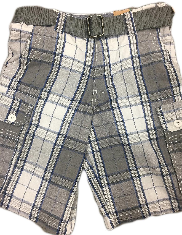 14//16 26 Grey Burnside Plaid Shorts with Belt