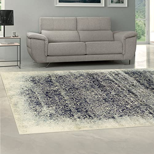 Superior Quality Soft, Plush and Durable 10mm Moisture and Mildew Resistant Apollonia Collection Area Rug, 8 x 10 Navy Blue