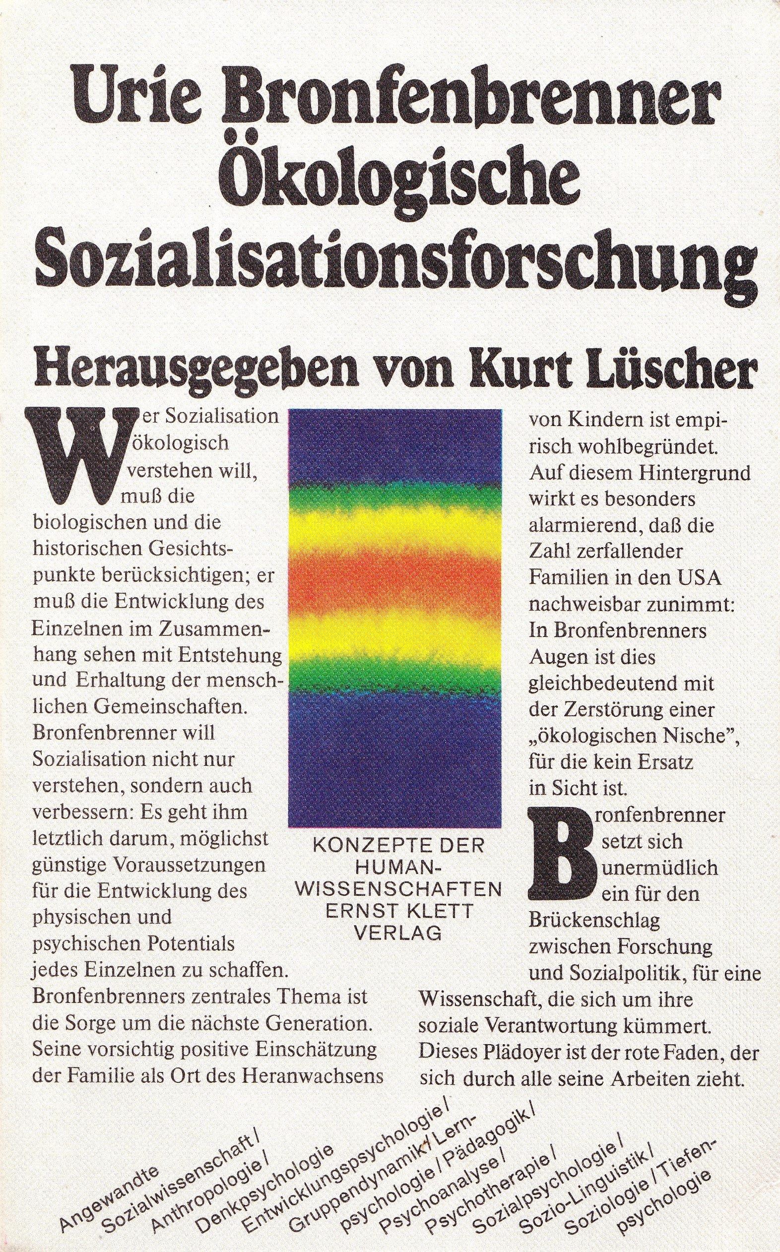 Ökologische Sozialisationsforschung