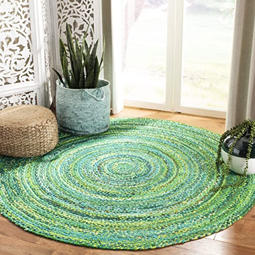 Safavieh Braided Collection BRD452Y Handmade Woven Cotton Area Rug