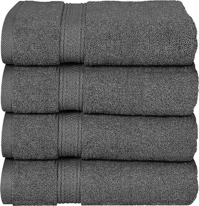 Comfort Realm 6 Piece Towel Set 100/% cotton Soft Thick Plush Quick Absorbent