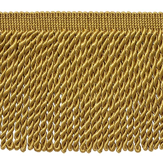 DÉcopro 5 Yard Value Pack   6 Inch Long Gold Bullion Fringe Trim, Basic Trim Collection, Style# Bfs6 Color: C4 (15 Ft / 4.5 Meters) by Deco Pro