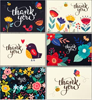 spark ink thank you cards 36 floral thank you notes with envelopes for wedding baby
