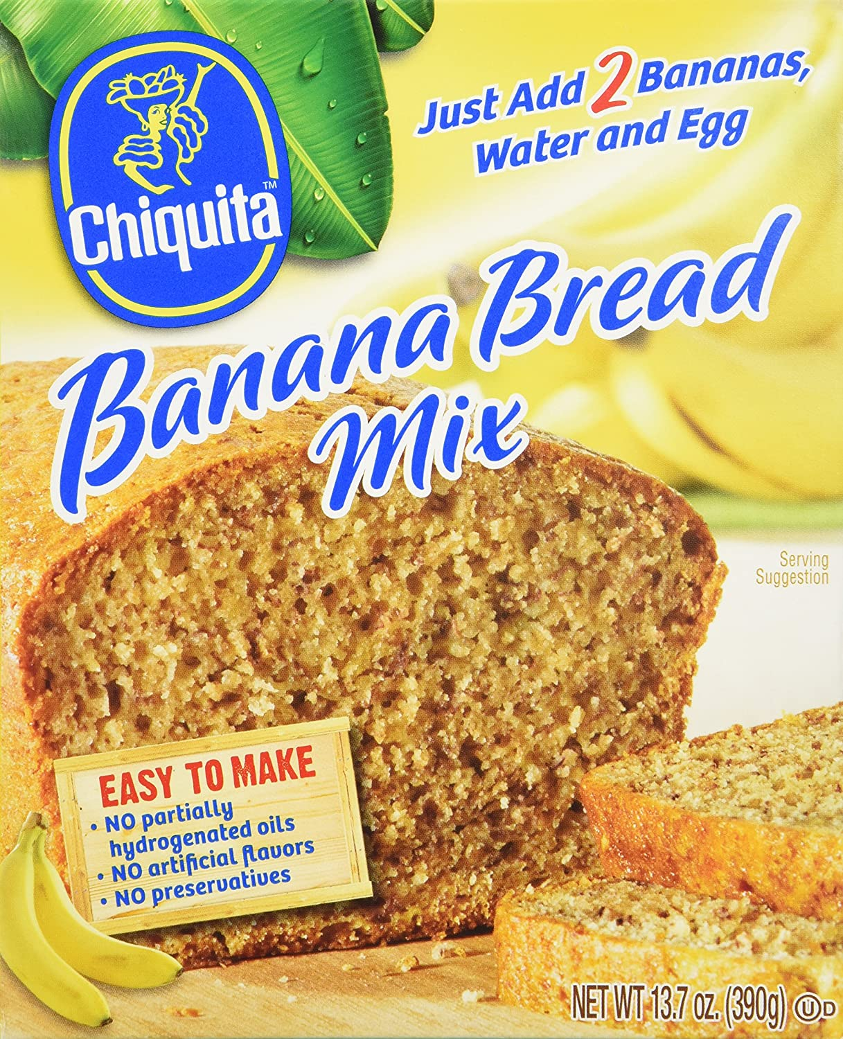 Concord Foods Chiquita Banana Bread Mix 13 7oz Value Pack Of 6 Boxes