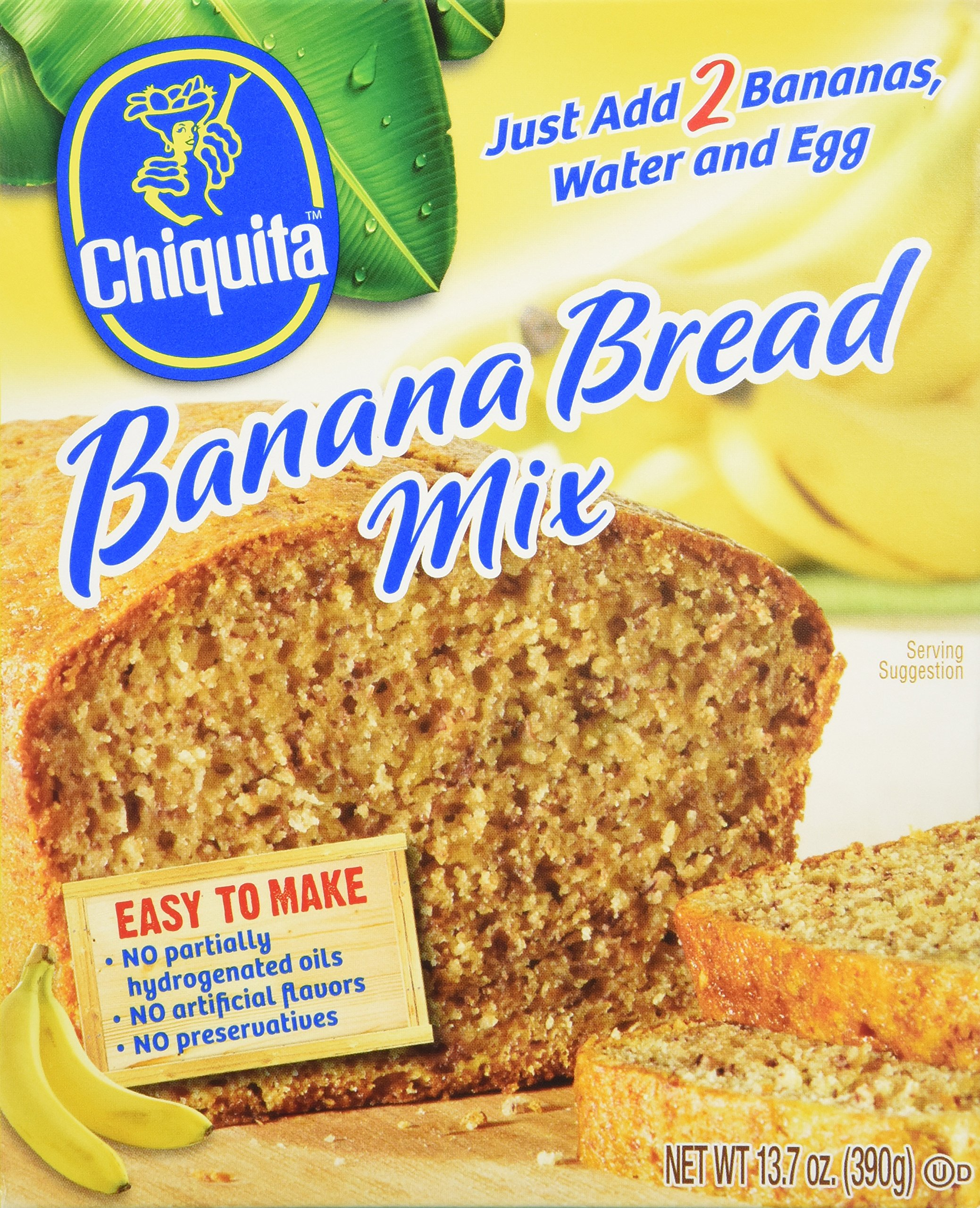 Concord Foods Chiquita Banana Bread Mix 13.7oz (VALUE pack of 6 Boxes) by Concord Foods
