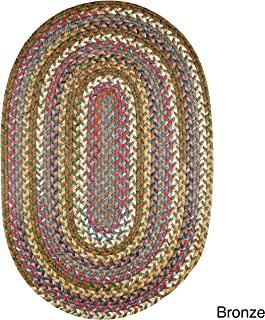 product image for Rhody Rug Charisma Indoor/Outdoor Oval Braided Rug by (10' x 13') - 10' x 13' Oval Bronze