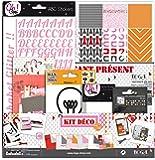 Toga KTU30 Kit de Scrapbooking Vivre L'Instant Présent Papier Multicolore 31 x 32 x 1 cm