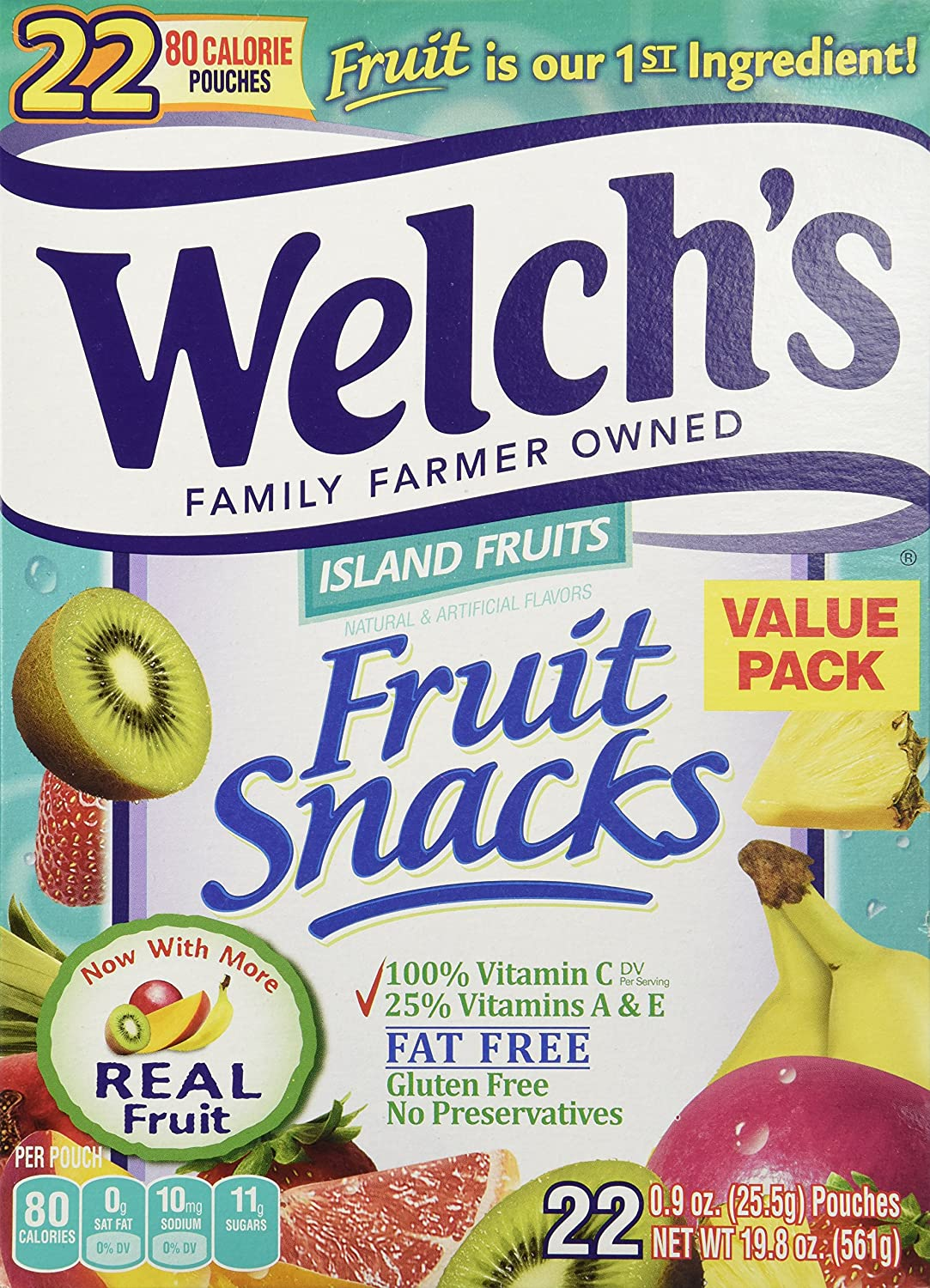 Welch's Island Fruits Pouches - 22 Pouches