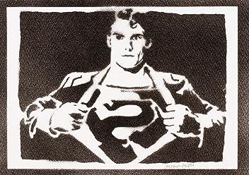 Póster Superman Grafiti Hecho A Mano - Handmade Street Art - Artwork