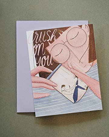 Amazon O11e Word Crush Valentine Card Art Watercolored