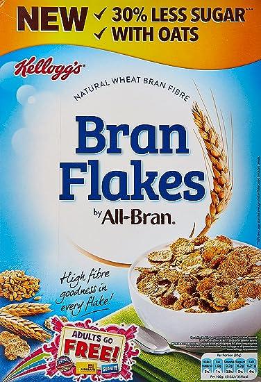 amazon com kellogg s all bran bran flakes 500g grocery