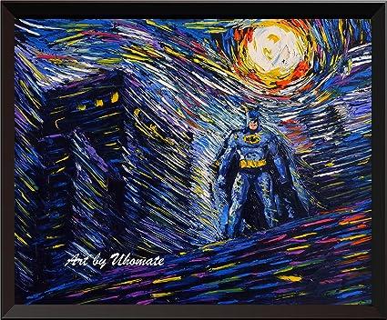 Amazon.com: uhomate batman superhero vincent van gogh starry night