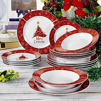 Set Aus Porzellan, Teller Set, Mit Je 6 Dessertteller,