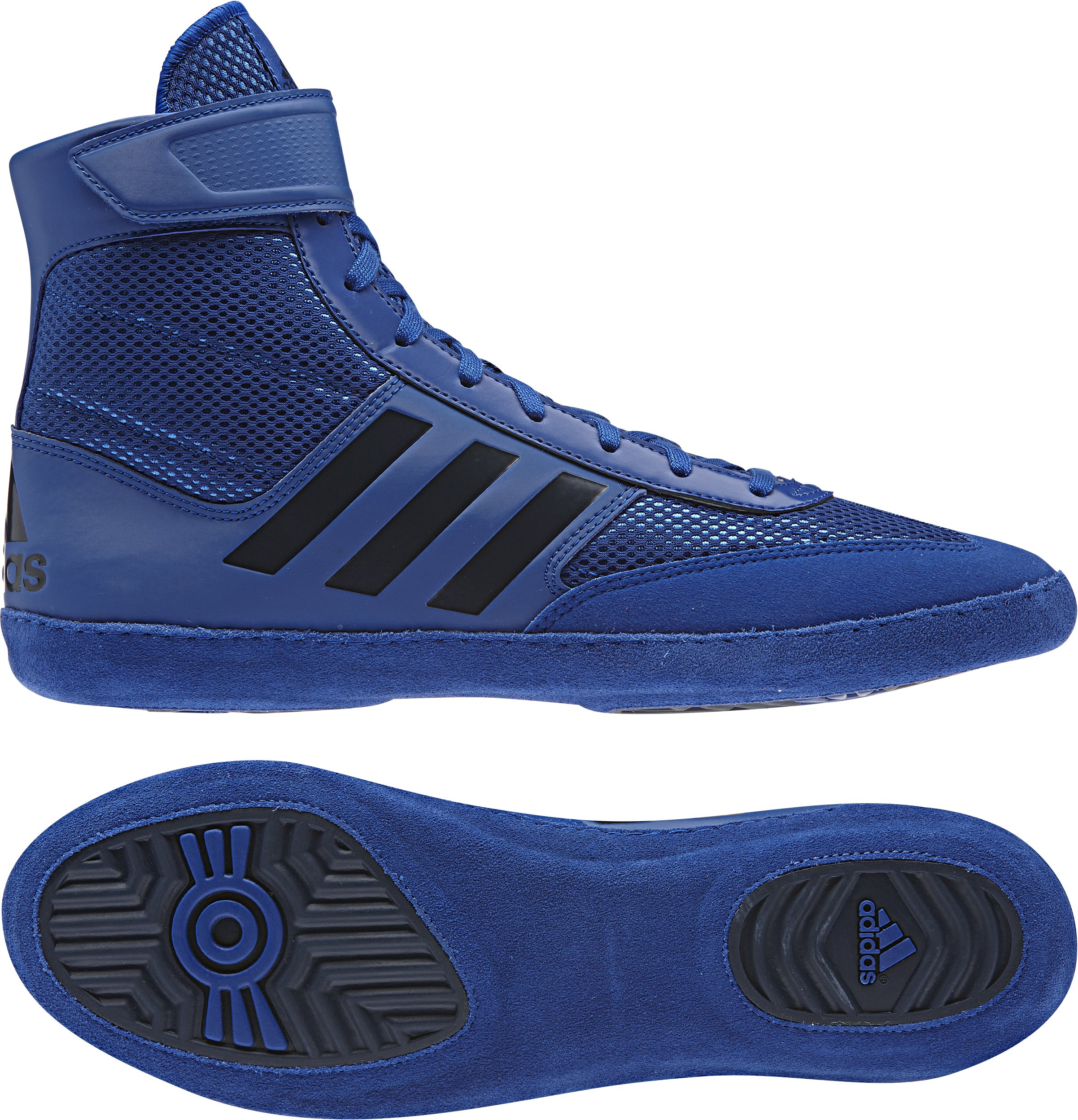 adidas Combat Speed 5 Men's Wrestling Shoes, Royal/Dark Royal, Size 4.5