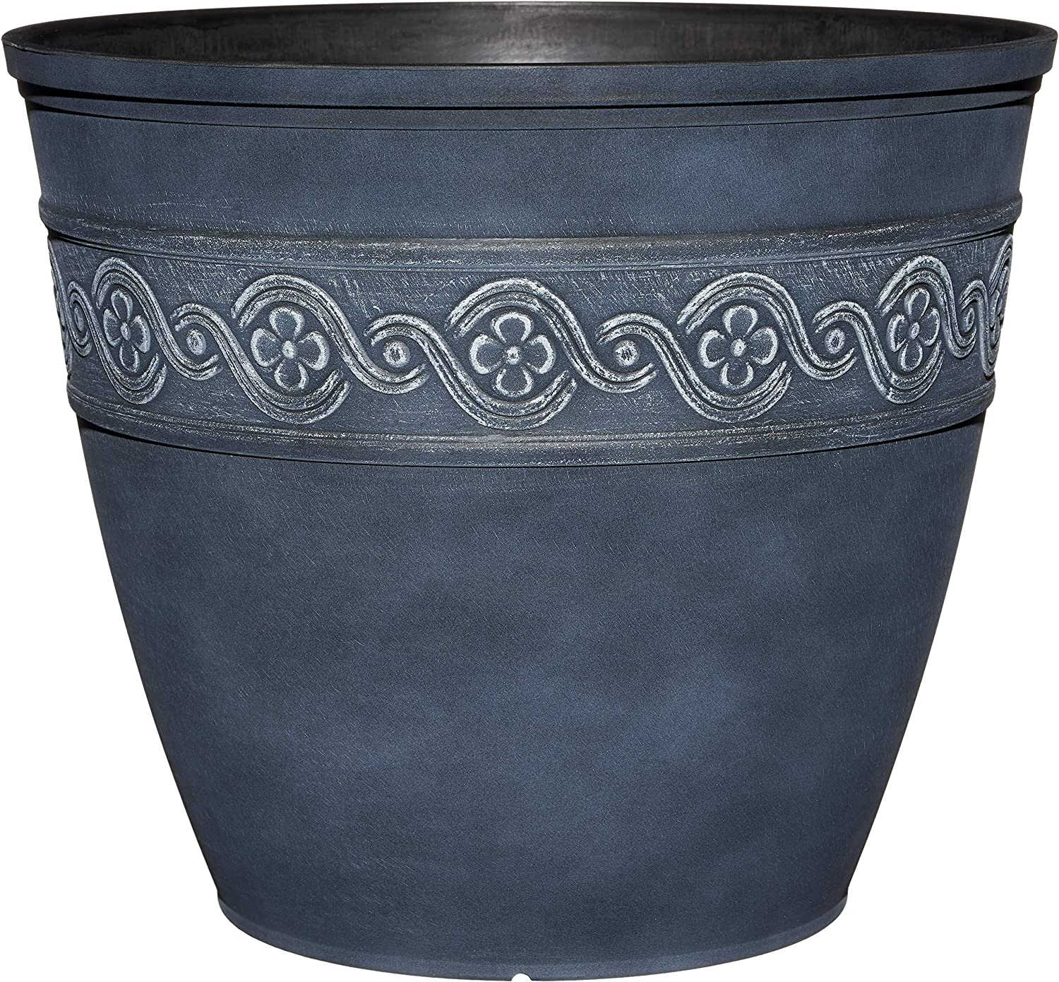 "Classic Home and Garden 9411D-515 Corinthian Round Planter, 10"", Storm"