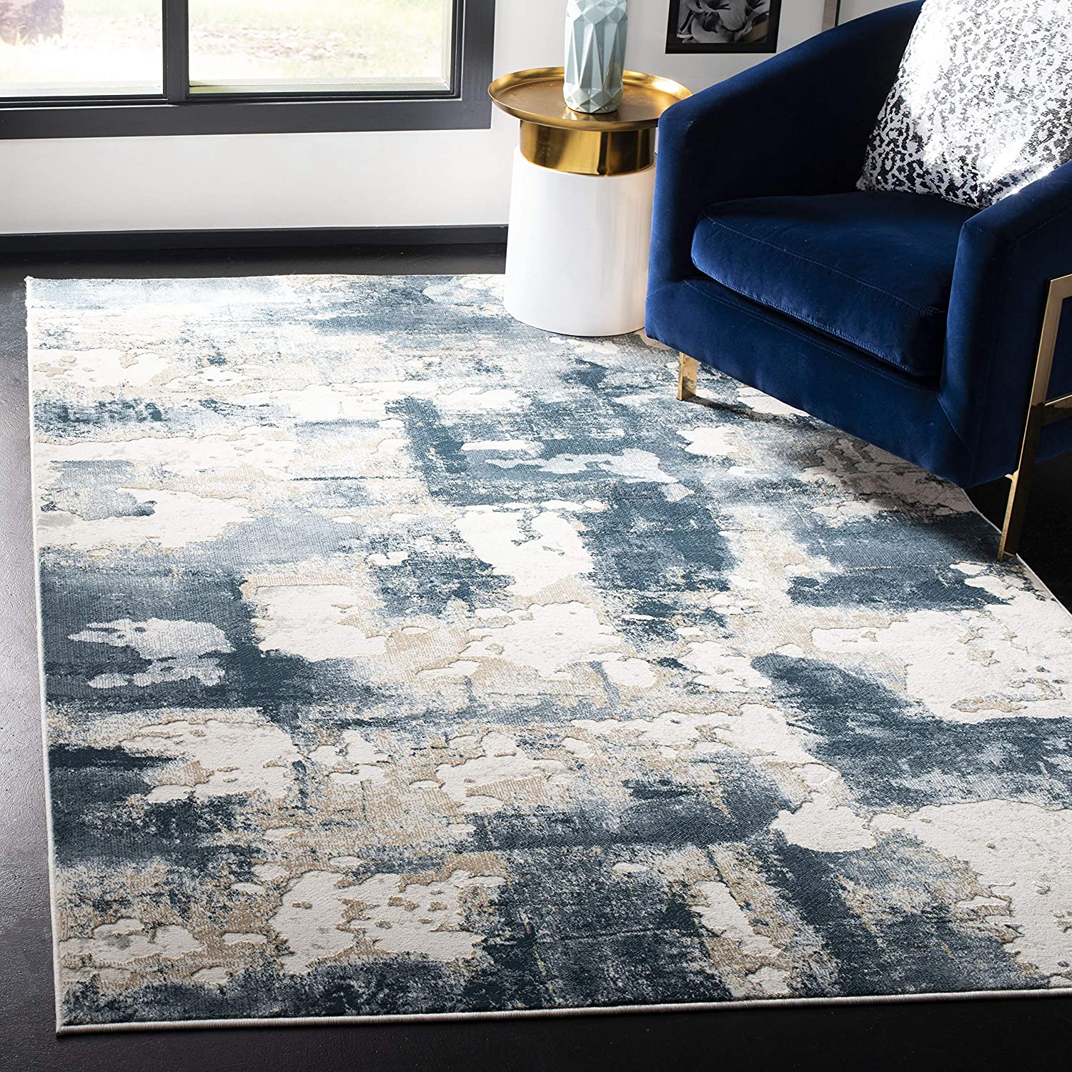 Safavieh Vogue Collection Vge142b Modern Abstract Area Rug 8 X 10 Beige Turquoise Furniture Decor