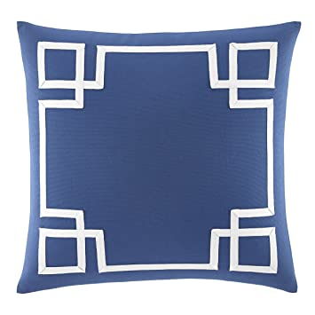 Amazon Nautica Bell Point Fretwork Decorative Pillow Blue Mesmerizing Fretwork Decorative Pillow