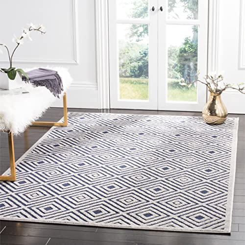 Safavieh Cottage Collection COT913A Cream and Navy Area Rug 8 x 11 2
