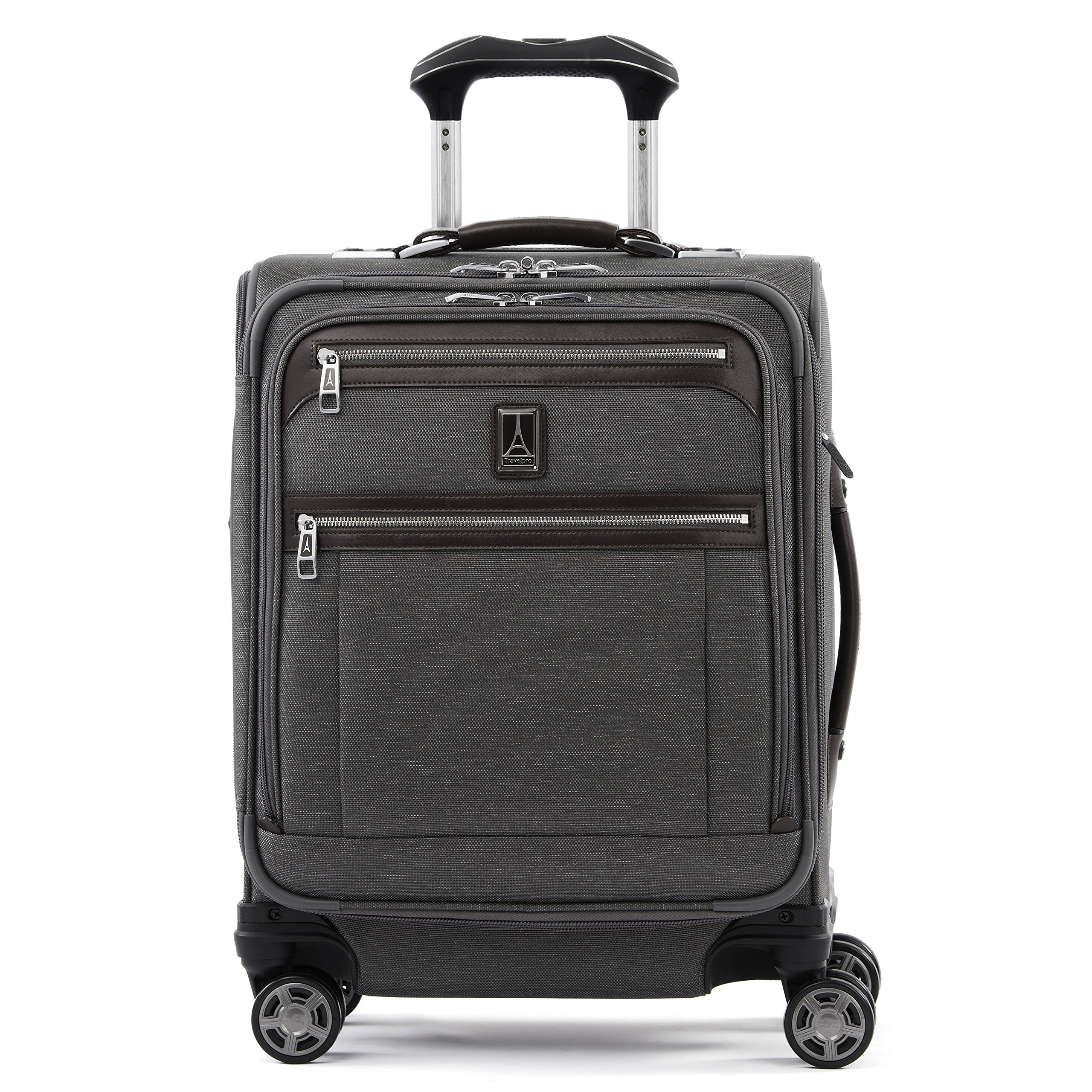 Travelpro Luggage Platinum Elite 20'' Carry-on Intl Expandable Spinner w/USB Port, Vintage Grey
