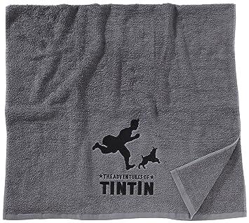 Serviette De Plage Tintin.Belltex 5414629330113 Serviette De Plage Brodee Tintin Et