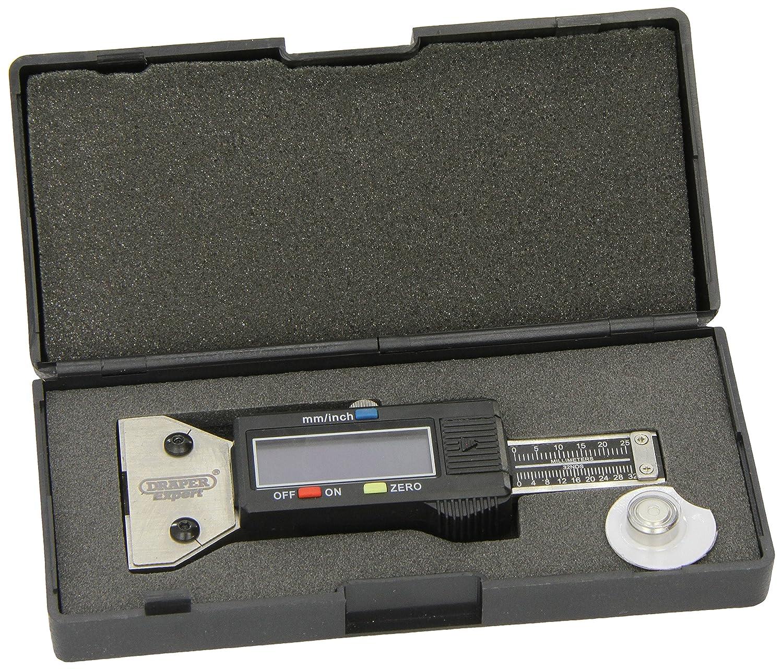 Draper Expert 39591 Jauge de profondeur numé rique pour pneu Acier inoxydable (Import Grande Bretagne) Draper Tools