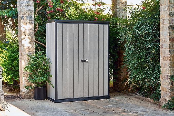 Keter - Cobertizo de jardín exterior Duotech Hight Store, Color gris: Amazon.es: Jardín