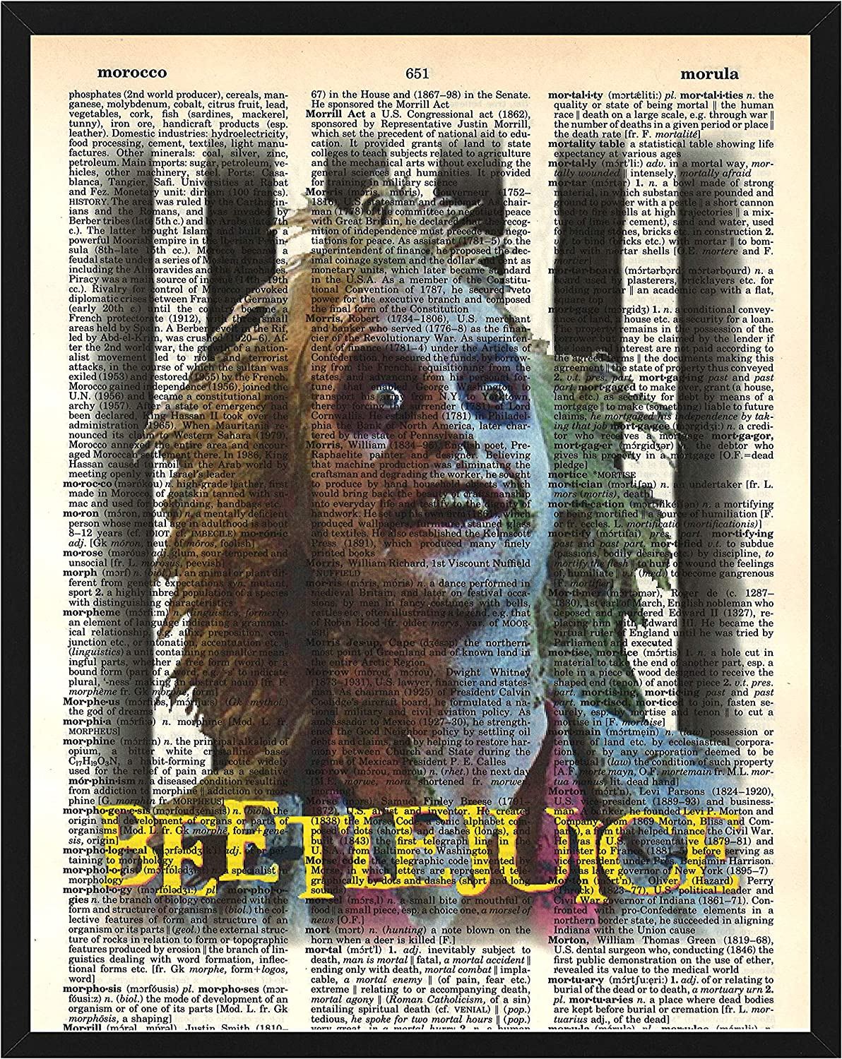 Beetlejuice Wall Decor Beetle Juice Dictionary Art 8 x 10 Print
