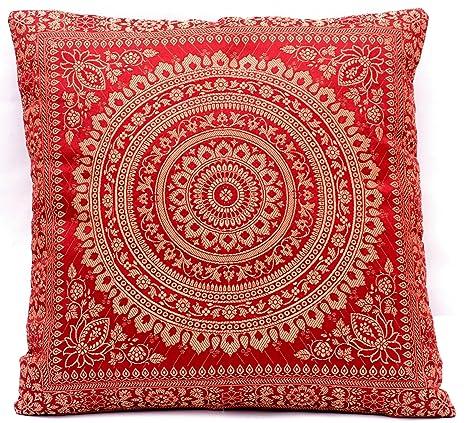 Almohada Decorativa Seda India Funda Cojin 40X40 Sofá textil ...
