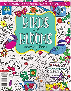Birds And Blooms Coloring Book Spring 2016