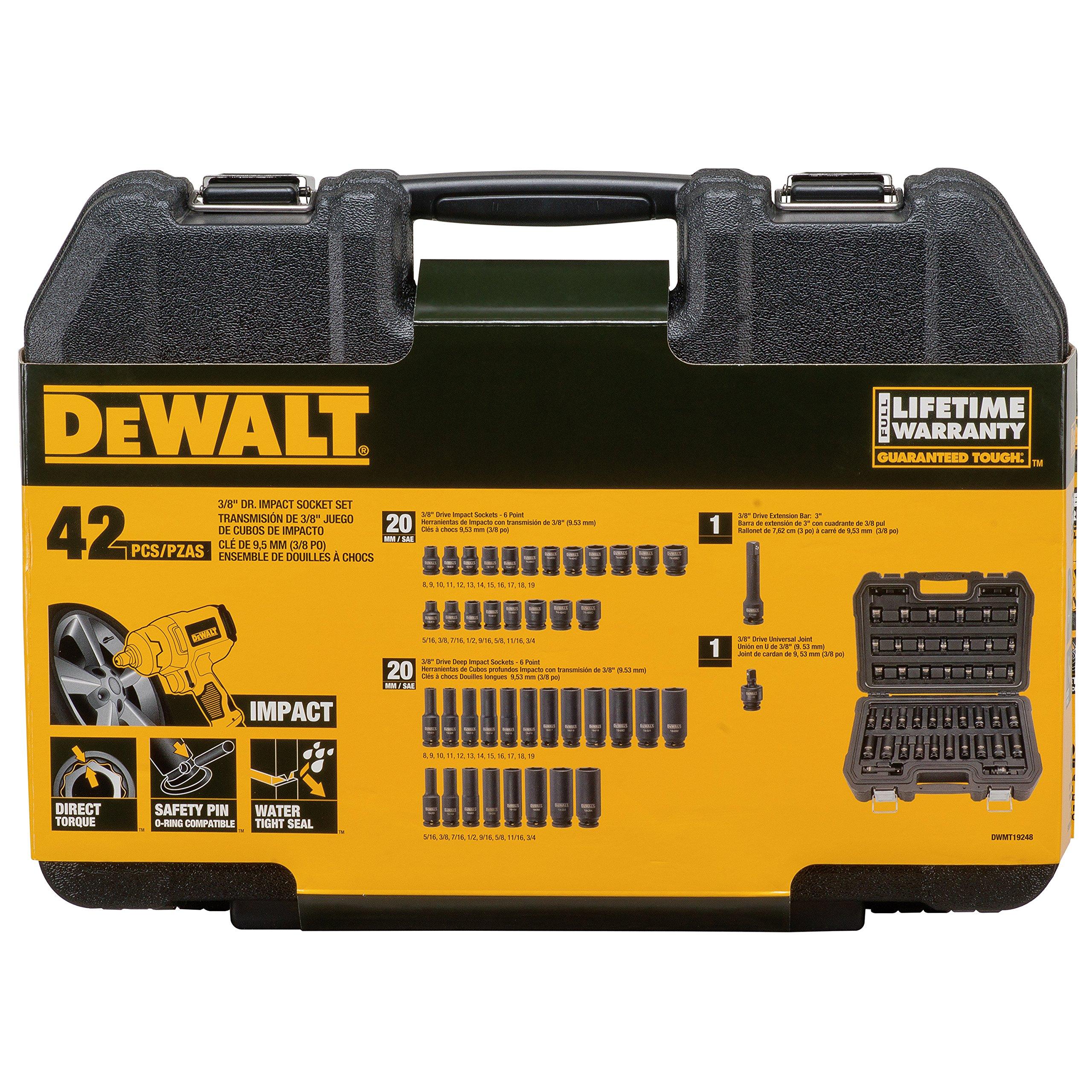 DEWALT 42PC 3/8'' Drive Impact Combination Set by DEWALT (Image #4)