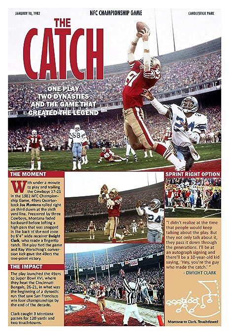 Amazon.com   The Catch  49ers  Montana to Clark Winning Touchdown ... 306566f61
