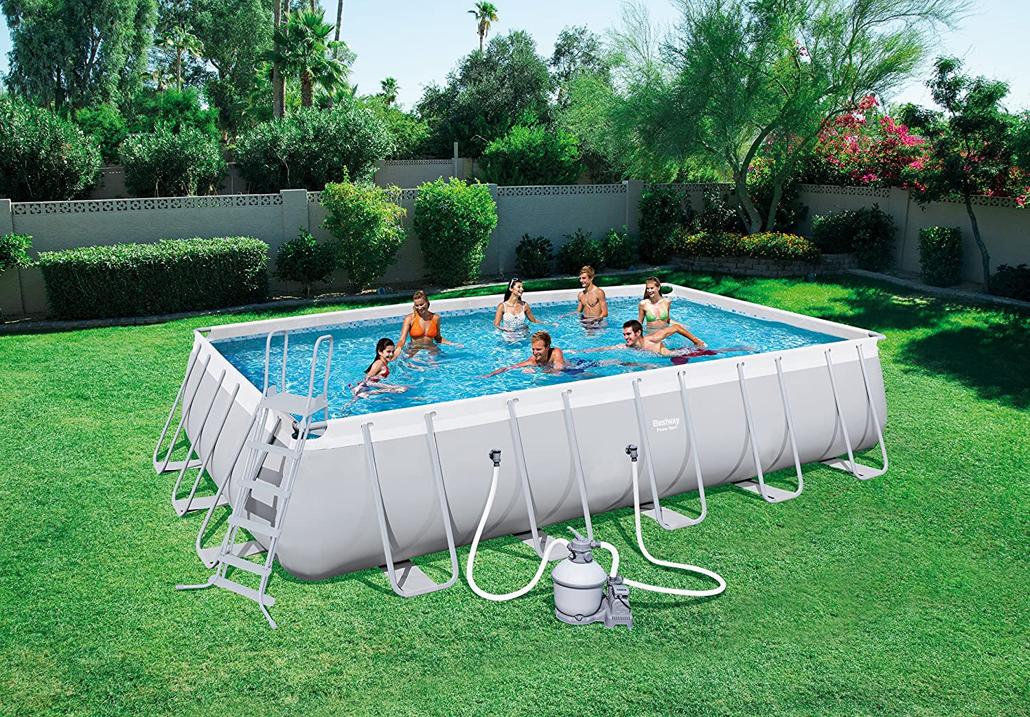 Piscina Power Steel 671 x 366 x 132 cm + depuradora de Arena