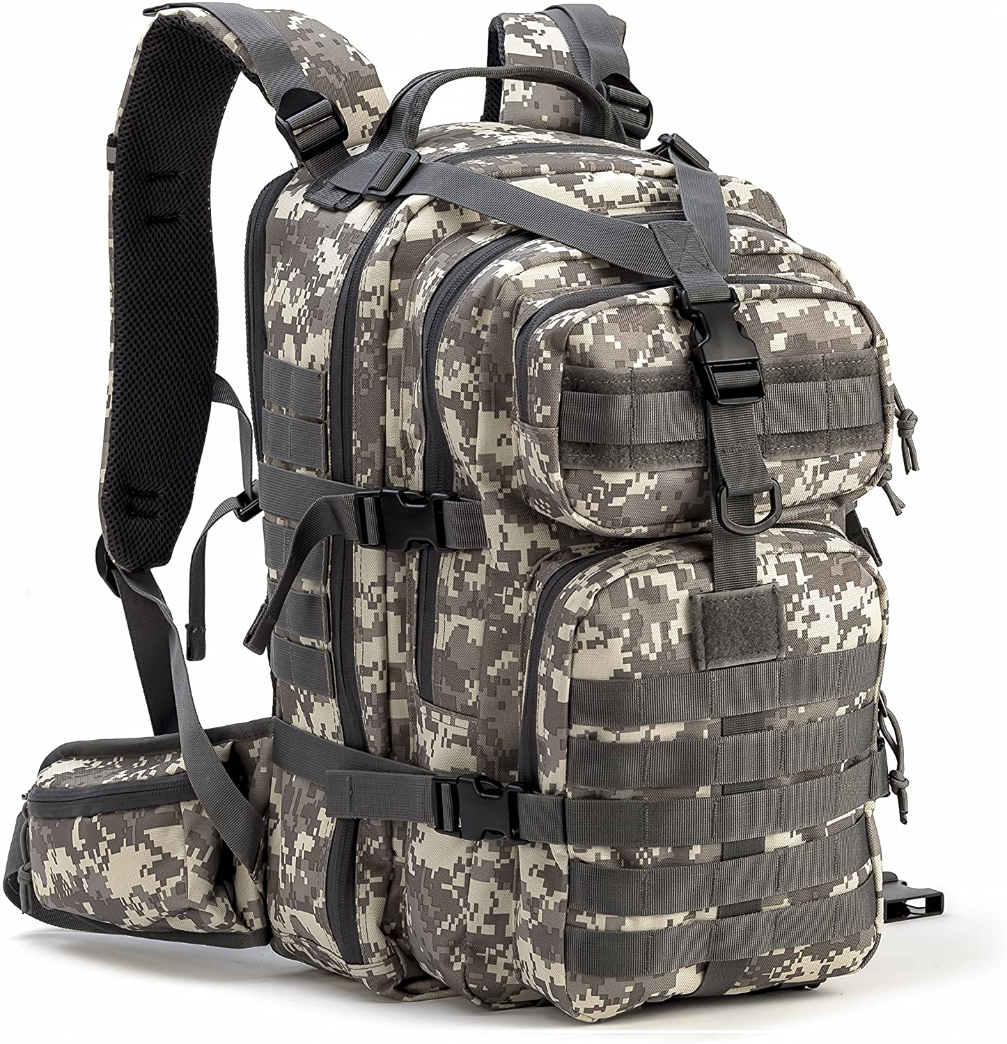 Doshwin Military Backpack Tactical Army Assault Pack US Molle Camo Rucksack for Men Women 40L
