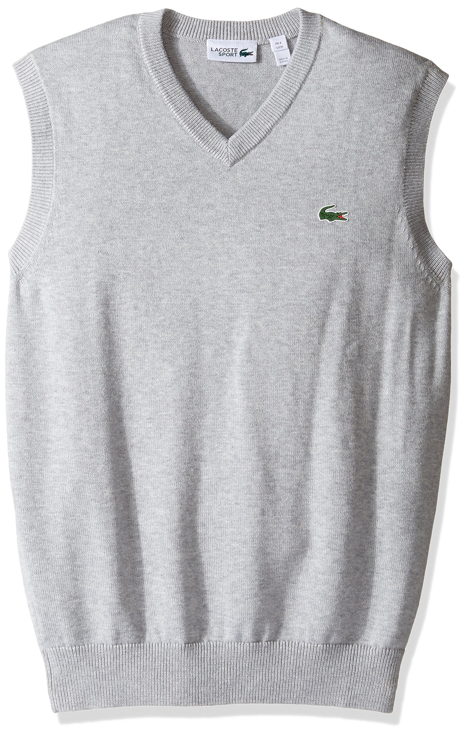 Lacoste Men's Golf Sweater Vest, AH2118-51, Silver Chine, XX-Large