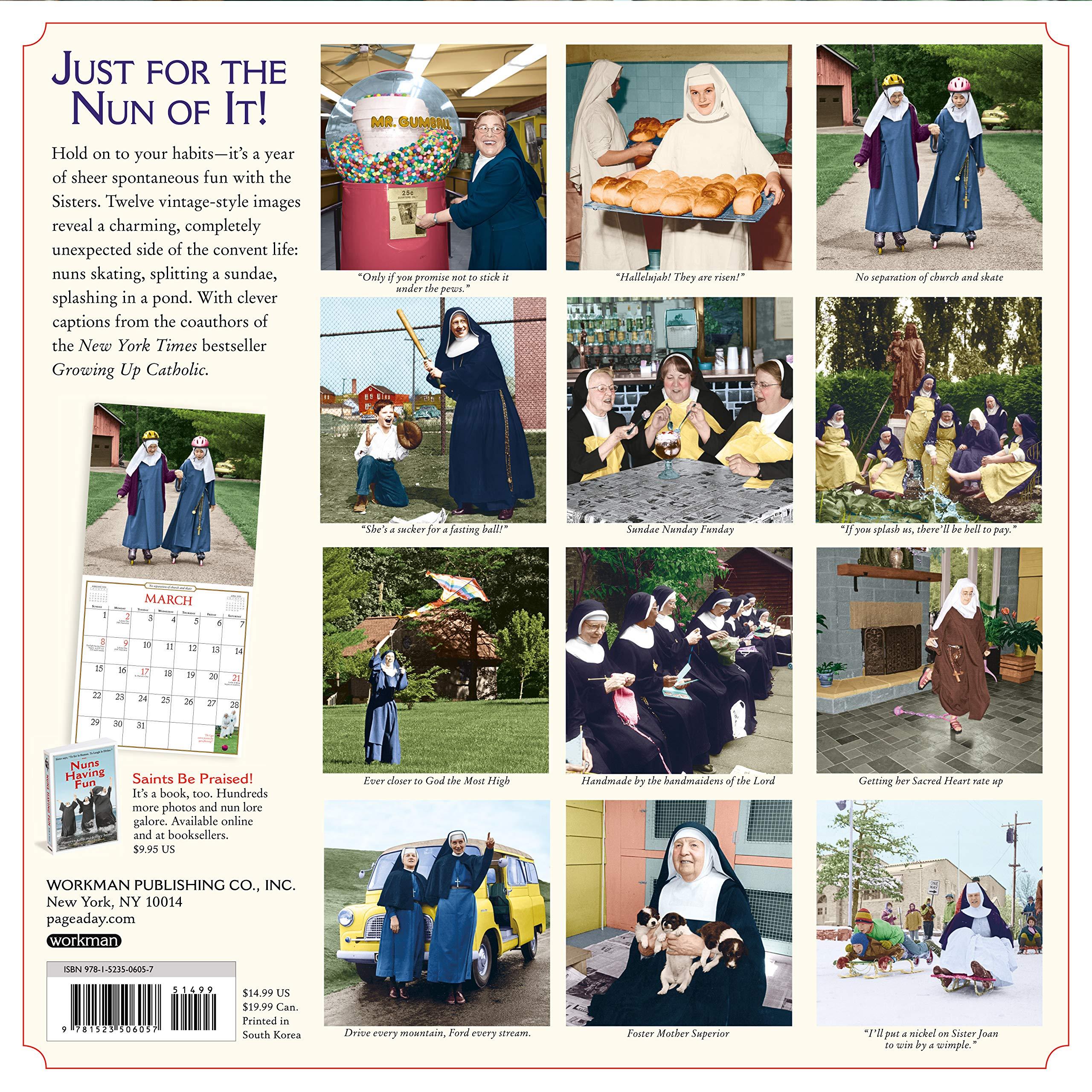 Nuns Having Fun Wall Calendar 2020: Kelly, Maureen, Stone, Jeffrey