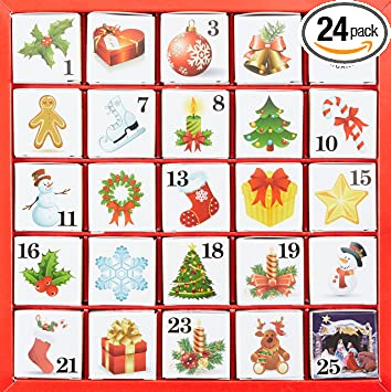 English Tea Shop Advent Calendar Christmas Ornaments 50g