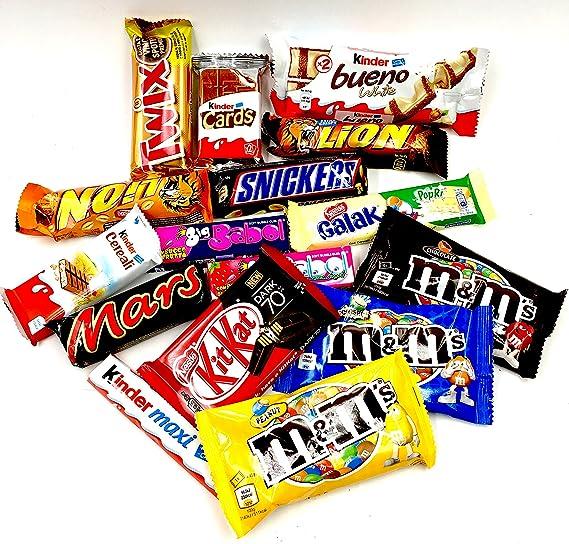 Mistery Box Paquete surtido de barras para bocadillos Cacahuete con chocolate Idea perfecta para regalar Piezas