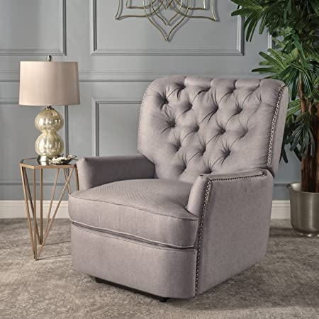 Christopher Knight Home 301901 Palermo Power Recliner Chair, Light Grey
