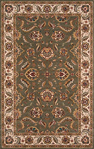 Momeni Rugs Persian Garden Collection, 100 New Zealand Wool Traditional Area Rug, 9 6 x 13 , Sage