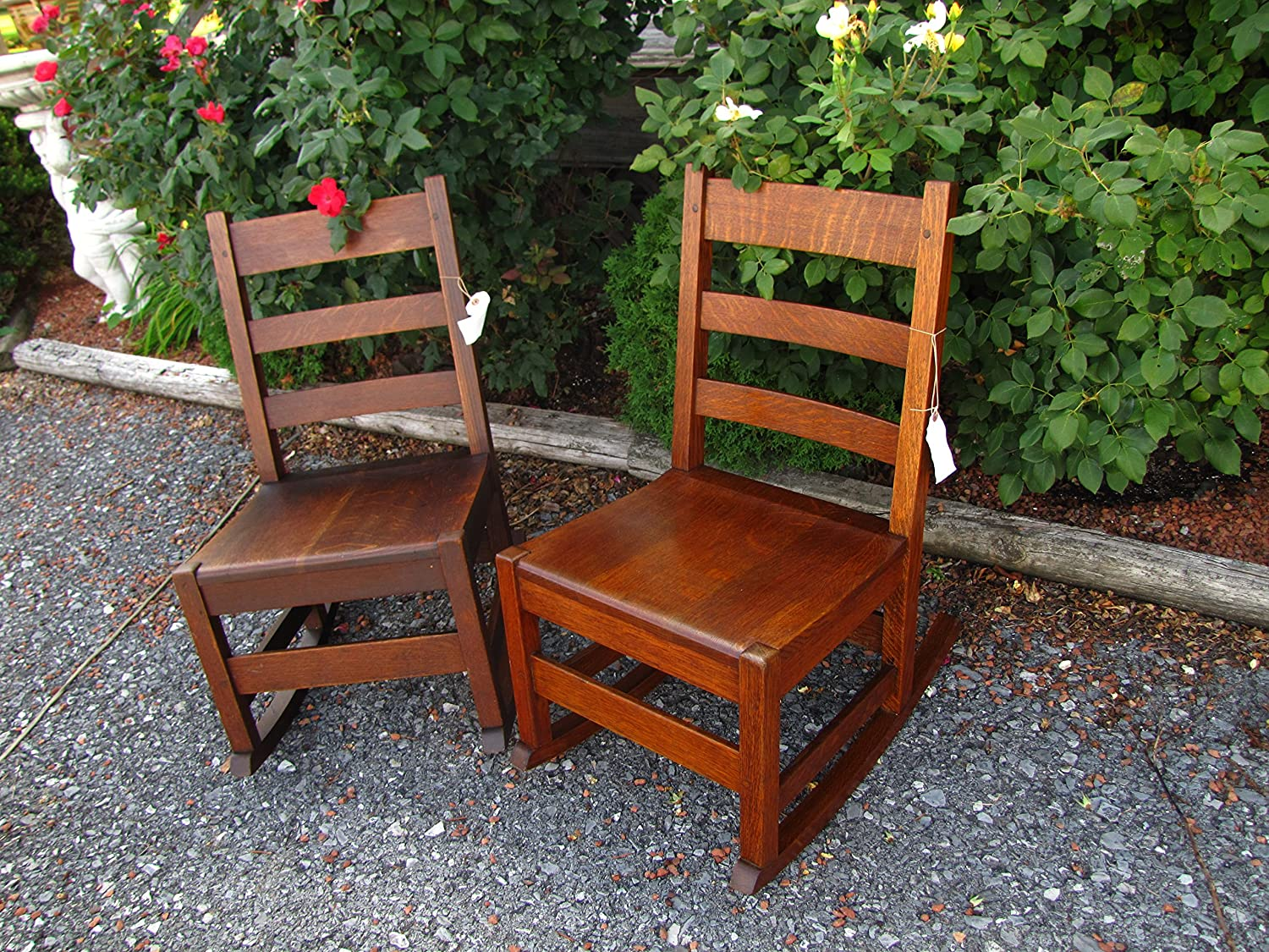 Peachy Amazon Com Antique Pair Of Stickley Brothers Rocking Chairs Machost Co Dining Chair Design Ideas Machostcouk