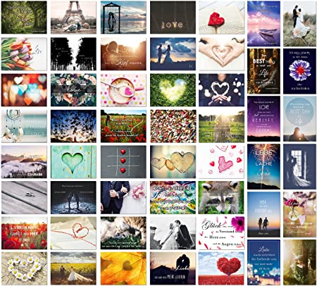 Postkarten Hochzeit 52 Wochen - 52 Postkarten - Ein Jahr lang jede Woche eine Karte - Hochzeitsgeschenk und kreative Alternat