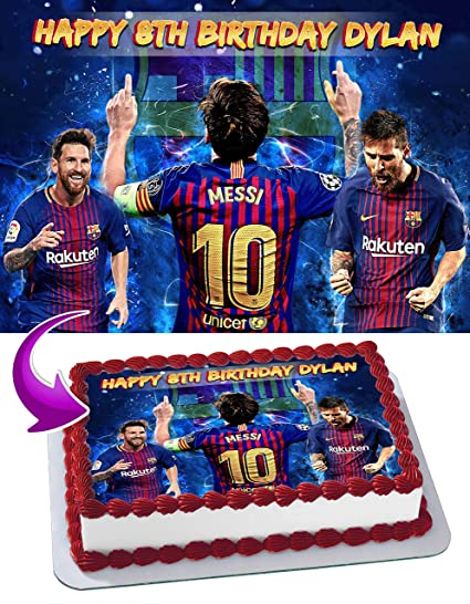 Edibleinkart - Decoración comestible para tarta de Leo Messi ...